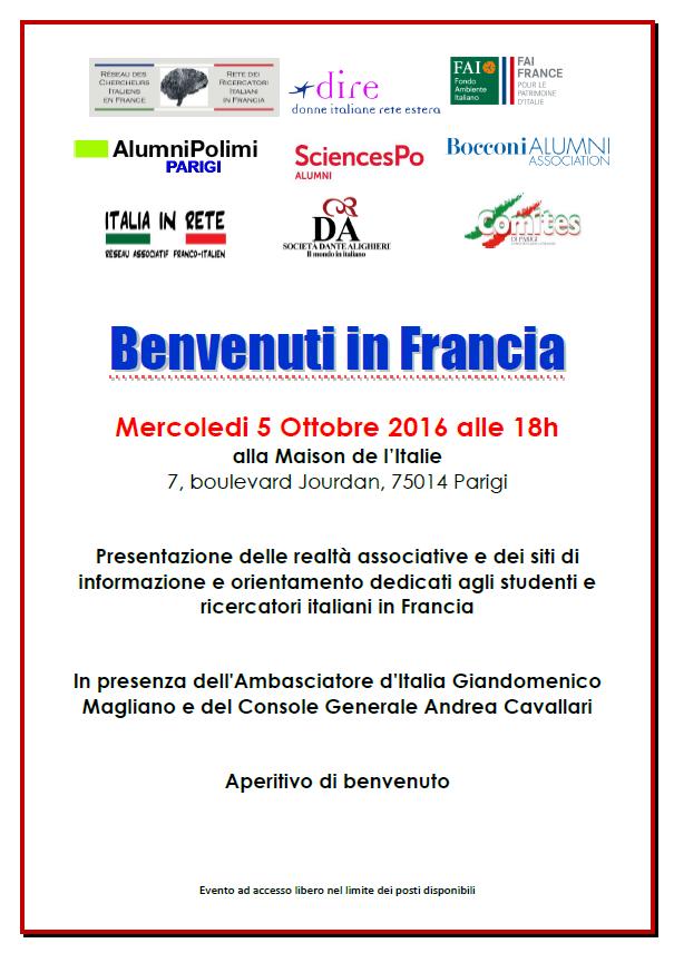 Benvenuti in Francia – Maison d'Italie 5 ottobre 2016