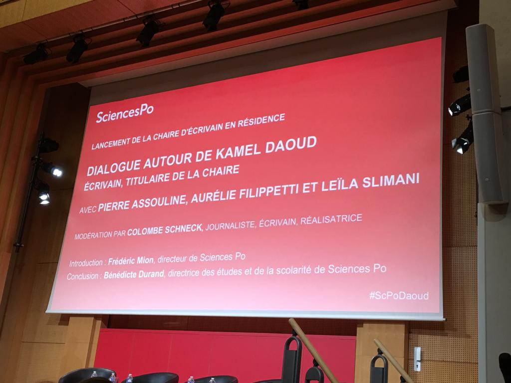 11_Lancement de la Chaire « Ecrivains en Résidence », Sciences Po, Amphi Boutmy